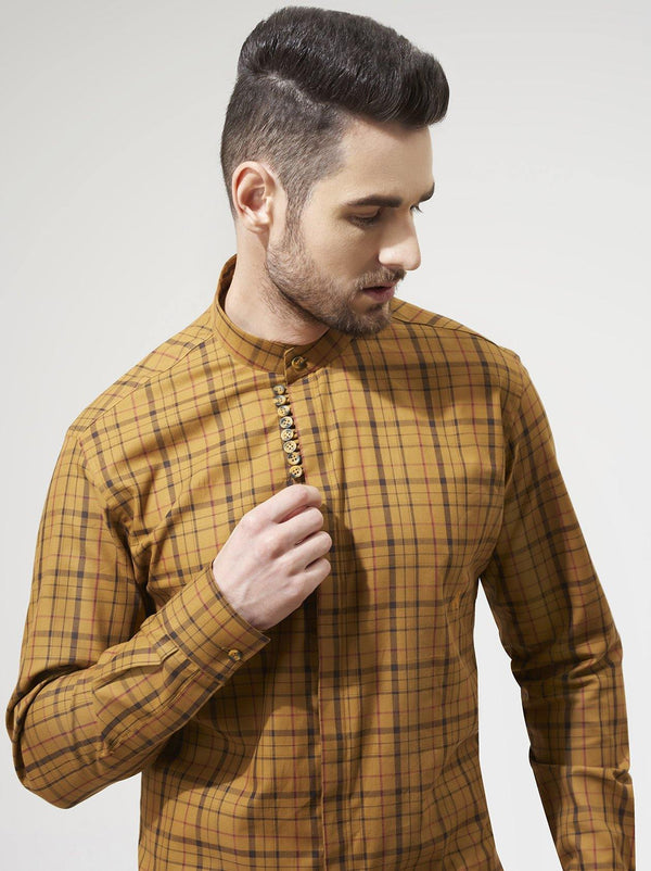 Mustard Yellow Mens Shirt
