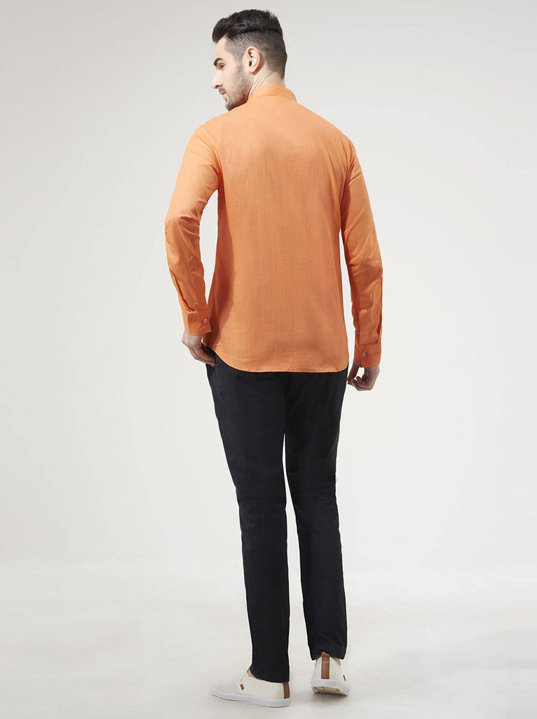 Bright Orange Mens Shirt