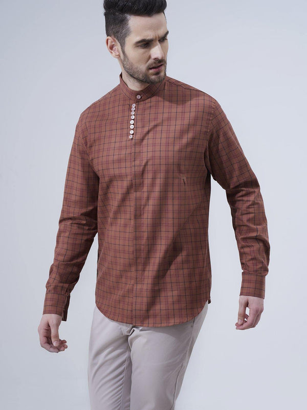 Burnt Orange Mens Shirt