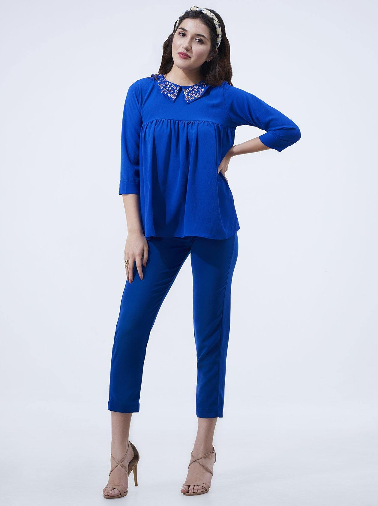 Blue Womens Top (GBWT1015) - GOOSEBERY