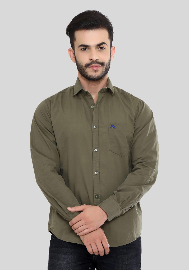 Khaki Shirt for Men (GROSULA 103) - GOOSEBERY