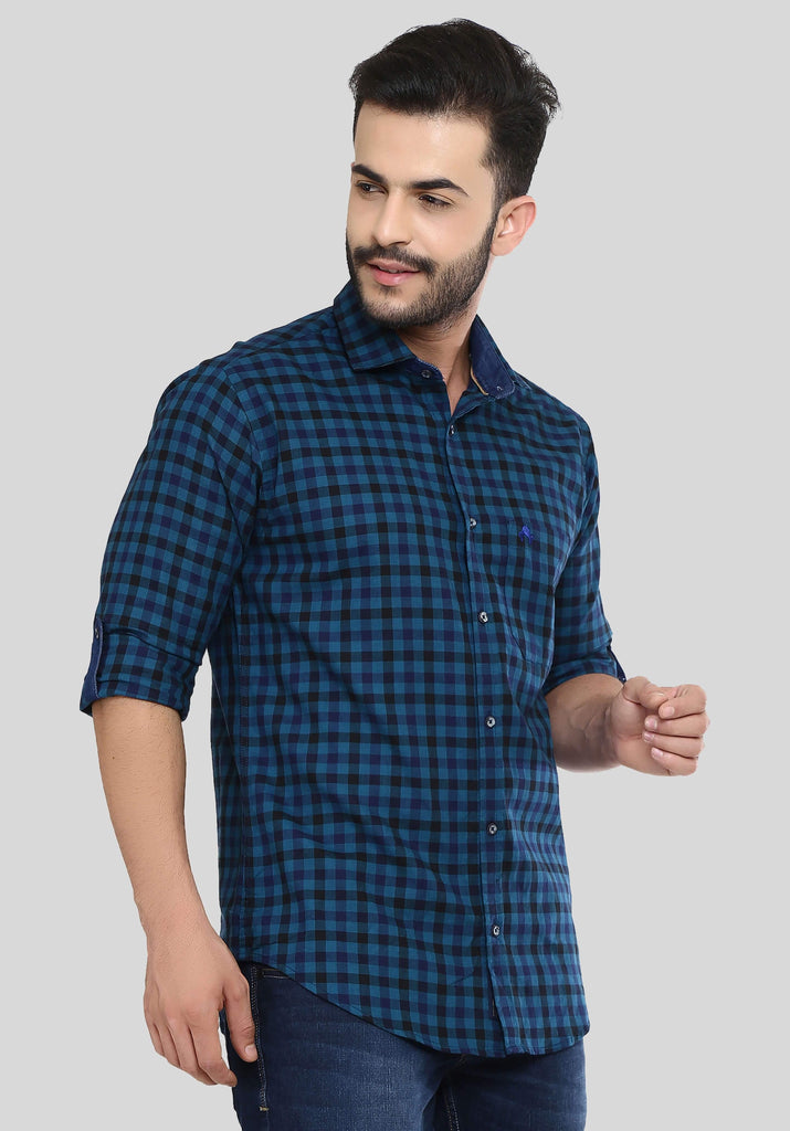 Navy Blue Shirt for Men (HAINE 106) - GOOSEBERY