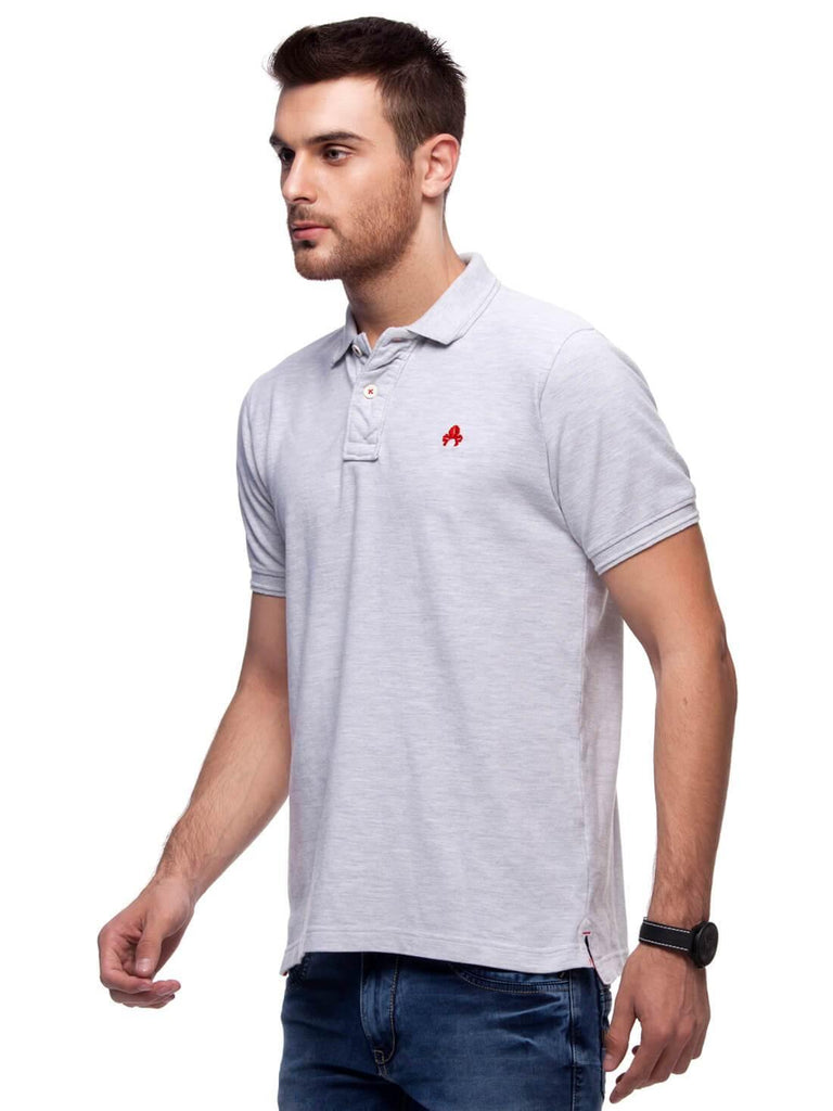 Melange Polo T-Shirt for Men (GROSELLA MELANGE) - GOOSEBERY