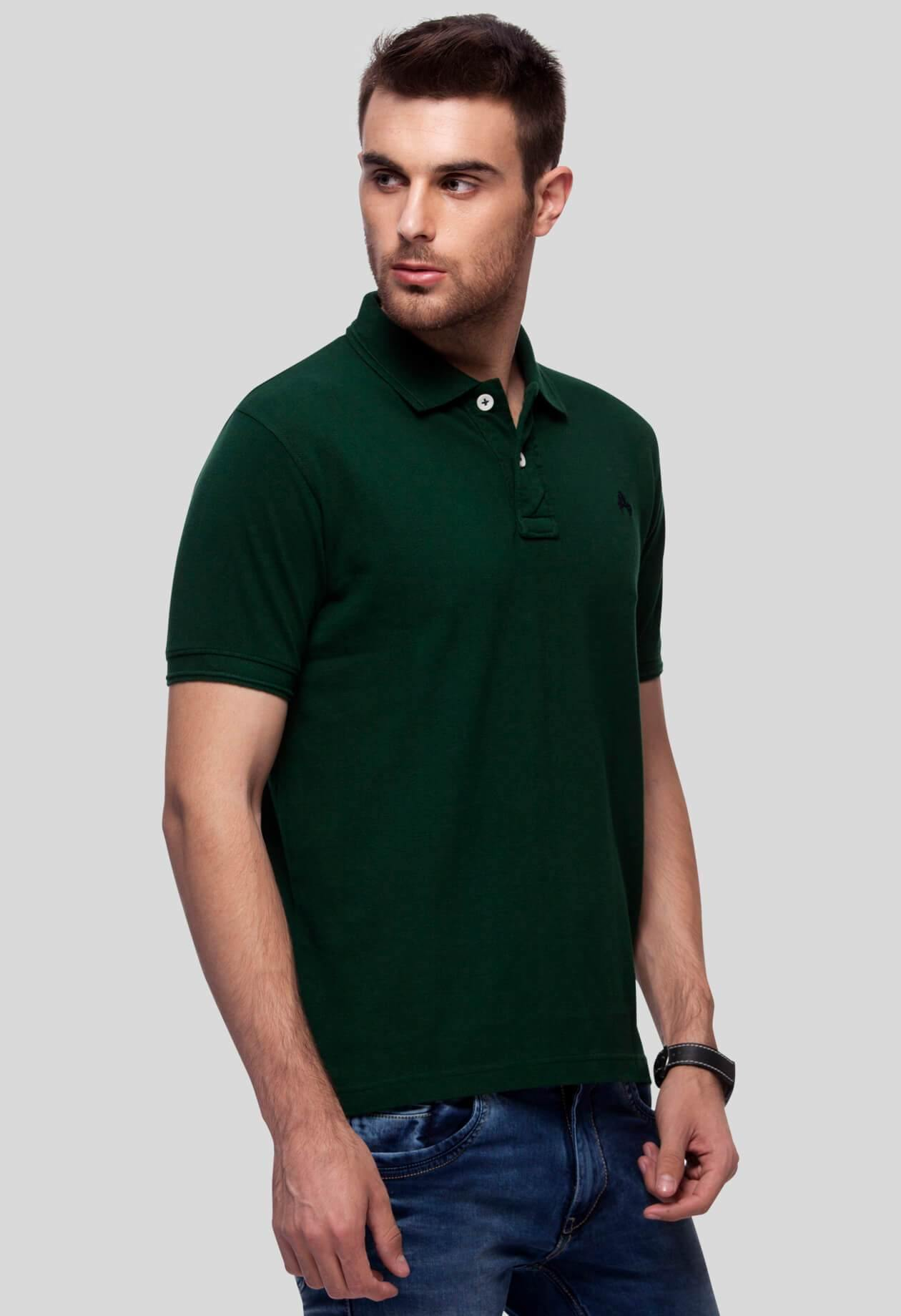Green Polo T-Shirt for Men (GROSELLA GREEN) - GOOSEBERY