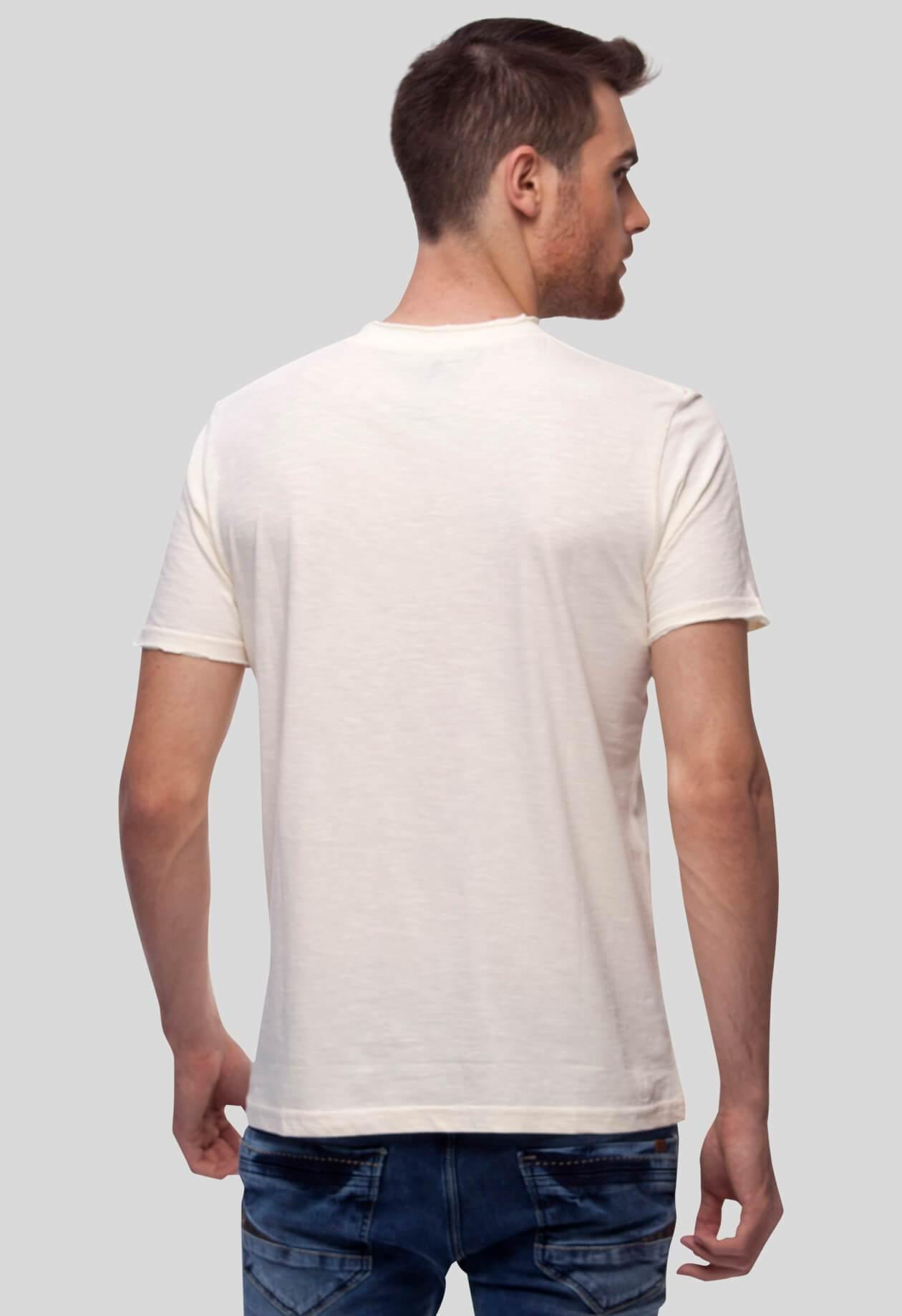 White Round Neck T-Shirt for Men (KRUSBES) - GOOSEBERY