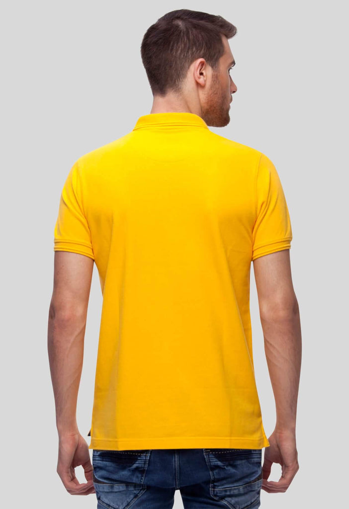 Yellow Polo T-Shirt for Men (GROSELLA YELLOW) - GOOSEBERY