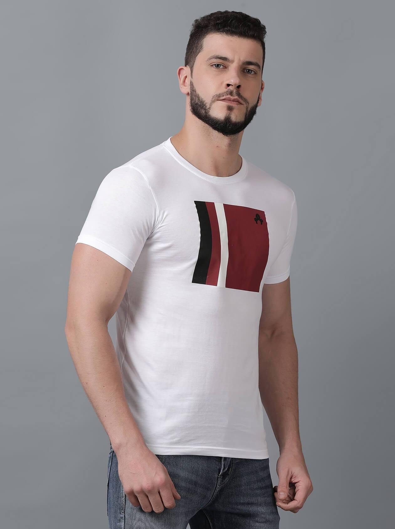 White T-Shirt for Men (MAQUIRE 1001) - GOOSEBERY