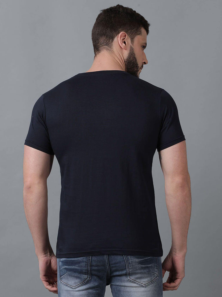 Navy Blue T-Shirt for Men (MAQUIRE 1002) - GOOSEBERY