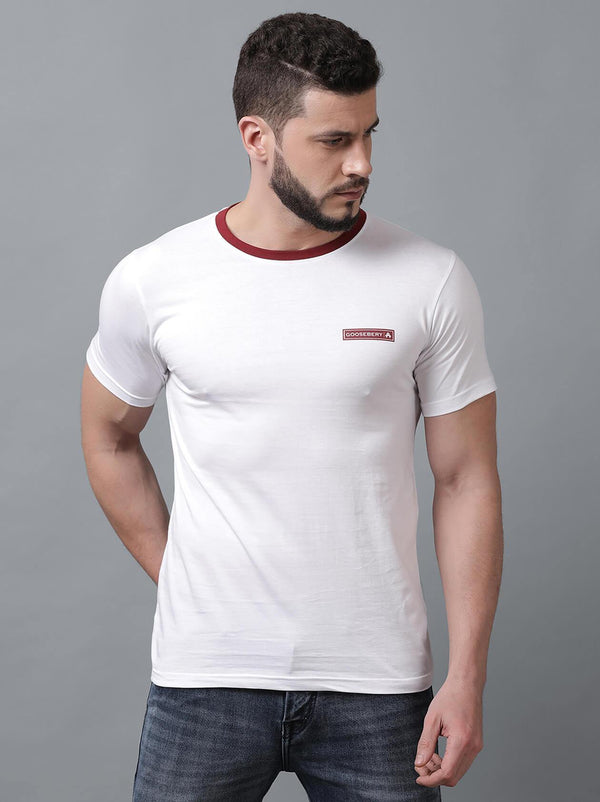 White Mens T-Shirt (MAQUIRE 1003) - GOOSEBERY