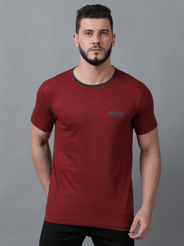 Red Mens T-Shirt (MAQUIRE 1004) - GOOSEBERY