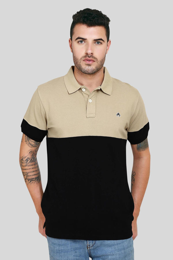 Black Polo T-Shirt for Men (UVA BLACK) - GOOSEBERY