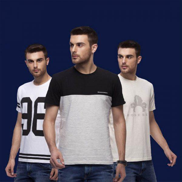 Round Neck TShirts for Men Combo(Pack of 3) - GOOSEBERY