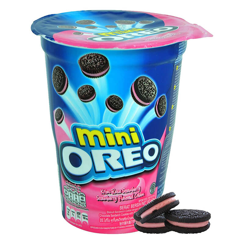Oreo Mini Strawberry Cream Biscuit Cup 67G
