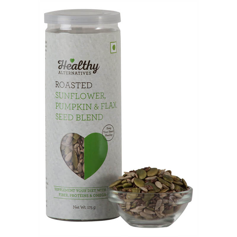Healthy Alternatives Roasted Sunflower Pumpkin & Flax Seeds Blend 175G