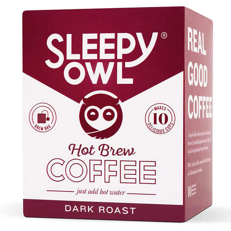 Sleepyowl Hot Brew Coffee Dark Roast 150G Pk10