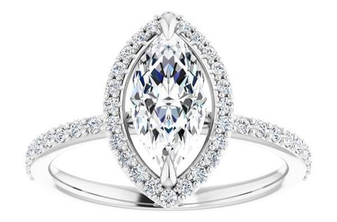 Diamond and Gold Halo Engagement Ring