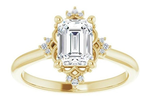 Diamond and Gold Vintage Engagement Ring