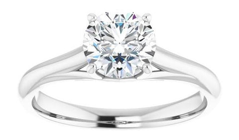 Diamond and Gold Solitaire Engagement Ring