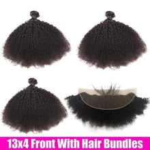 Load image into Gallery viewer, BeuMax Hairs 10A Grade Brazilian Human Hair Extension Afro Kinky Curly