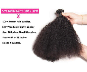 BeuMax Hairs 10A Grade Brazilian Human Hair Extension Afro Kinky Curly