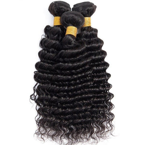 BeuMax Hairs 9A Grade Brazilian Human Hair Extension Deep Wave Bundles