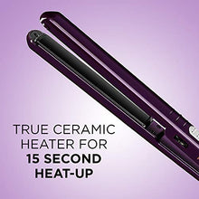 Load image into Gallery viewer, INFINITIPRO BY CONAIR Tourmaline Ceramic Flat Iron, 1 Inch, Purple