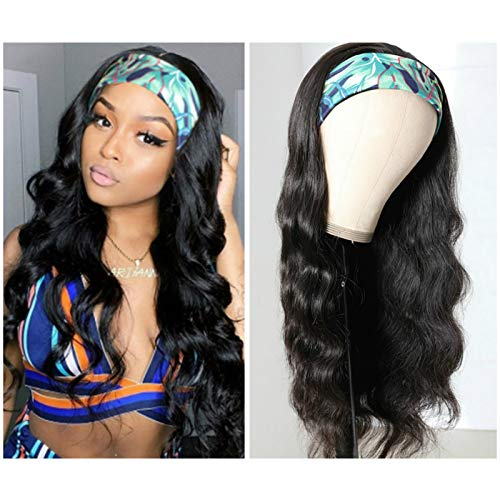 Human Hair Headband Wig Body Wave Human Hair Wigs for Black Women Brazilian Virgin Hair Glueless None Lace Front Wigs 150% Density (12