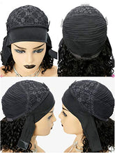 Load image into Gallery viewer, Afro Kinky Curly Headband Human Hair Wigs for Black Women Glueless None Lace Front Wigs Headband Half Wig Human Hair 150% Density Brizilian Virgin Hair Machine Made Headband Wig Human Hair 12Inch