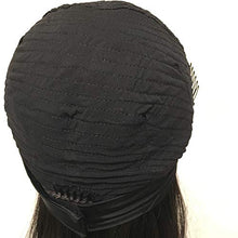 Load image into Gallery viewer, 150% Density Silky Straight Human Hair Headband Wigs Silky Straight Brazilian Virgin Human Hair Machine Made Headband Wig For Black Women Natural Color 18 Inch