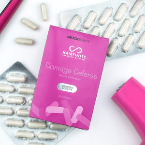 Hairfinity Damage Defense Collagen Booster Hair Supplement for Weak, Brittle Hair - Infusion of Collagen to Support Healthy Hair Growth - 30 capsules (1 month supply)