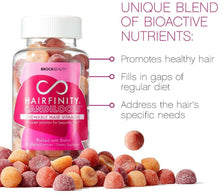 Load image into Gallery viewer, Hairfinity Candilocks Chewable Hair Vitamins - Gummies Scientifically formulated with Biotin, Inositol, and Choline for Longer, Stronger Hair Growth (60 Vegetarian Gummies)