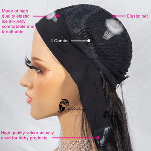 Headband Human Hair Wig Loose Wave None Lace Front Wigs Glueless Brizilian Virgin Hair Machine Made Headband Wig for Black Women 150% Density 14Inch