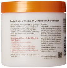 Load image into Gallery viewer, Cantu Argan Oil Leave-In Conditioning Repair Cream, 16 Ounce