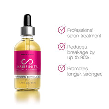 Load image into Gallery viewer, Hairfinity Botanical Hair Oil - Growth Treatment for Dry Damaged Hair and Scalp with Jojoba, Olive, Sweet Almond Oils and More - Silicone and Sulfate Free 1.76 oz