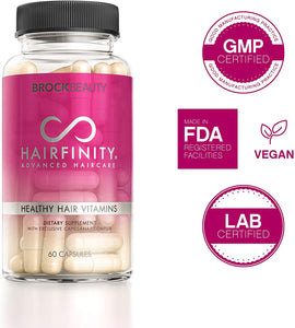 Hairfinity Hair Vitamins - Scientifically Formulated with Biotin, Amino Acids, and a Vitamin Supplement That Helps Support Hair Growth - Vegan - 120 Veggie Capsules (2 Month Supply)
