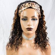 Load image into Gallery viewer, 1B/30 Ombre Headband Wig Human Hair Blonde Highlight None Lace Front Wigs Deep Loose Wave Human Hair Wigs for Black Women 150% Density 14 inch