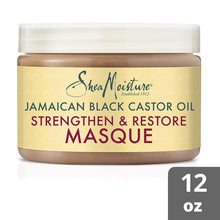 Load image into Gallery viewer, SheaMoisture Jamaican Black Castor Oil Treatment Masque For Dry Hair Jamaican Black Castor Oil Paraben Free Hair Mask 12 oz