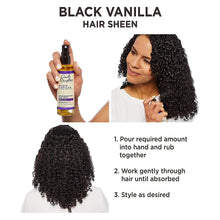 Load image into Gallery viewer, Carol's Daughter Black Vanilla Moisture & Shine Hair Sheen For Dry Hair and Dull Hair, with Shea Butter, Jojoba Oil, and Sweet Almond Oil, Paraben Free Hair Sheen, 4.3 fl oz (Packaging May Vary)