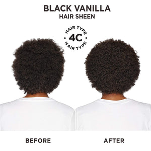 Carol's Daughter Black Vanilla Moisture & Shine Hair Sheen For Dry Hair and Dull Hair, with Shea Butter, Jojoba Oil, and Sweet Almond Oil, Paraben Free Hair Sheen, 4.3 fl oz (Packaging May Vary)