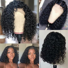 Load image into Gallery viewer, Deep Wave Short Bob Wigs For Black Women Brazilian Bob Lace Wigs Pre Plucked Deep Curly Human Hair Wigs AliPearl Hair Wigs