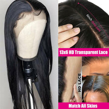 Load image into Gallery viewer, HD Transparent Lace Wigs 13x4 13x6 Lace Front Human Hair Wig Lemoda Remy 4x4 Closure Wig Brazilian Straight 360 Lace Frontal Wig