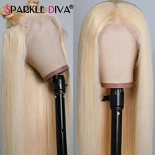 Load image into Gallery viewer, 613 Blonde Lace Front Wig Brazilian Straight Human Hair Wigs For Women Middle Part 13*1 Lace Front Wig 613 Honey Blonde Remy