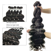 Load image into Gallery viewer, Queenlife Body Wave Bundles Brazilian Hair Weave Bundles 100% Human Hair Bundles 1/3/4 Pieces 30 32 34 34 38 40 Inches Remy Hair