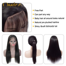 Load image into Gallery viewer, 13x4/13x6 Straight Lace Front Human Hair Wigs 360 Lace Frontal Wigs Remy Brazilian Human Hair Lace Wigs for Women Full Ossilee