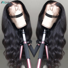 Load image into Gallery viewer, Allove Body Wave Lace Front Wig Pre Plucked Human Hair Wigs Brazilian Body Wave Lace Front Human Hair Wigs 360 Lace Frontal Wig