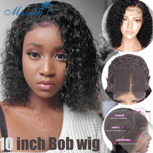 Load image into Gallery viewer, Bob Lace Front Wig Curly Wig Human Hair Brazilian Hair Wig 150 Short Wig Bob Wigs Remy 4x4 Closure Wig Curly Human Hair Wigs