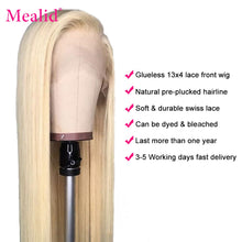 Load image into Gallery viewer, Glueless 613 Blonde Lace Front Wigs Remy Brazilian Straight Hair Lace Front Human Hair Wigs 13x4 Pre Plucked With Baby Hair 150%
