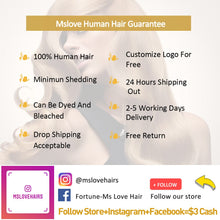 Load image into Gallery viewer, Human Hair Bundles With Closure Straight Brazilian Hair Weave 3 4 Bundles With Closure 28 30 Inch Bundles With Closure
