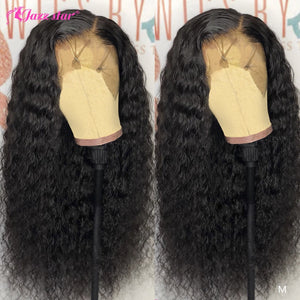 13x4 13x6 Lace Front Human Hair Wigs Pre Plucked With Baby Hair Brazilian Deep Wave Wig Lace Front Wig Non-Remy Jazz Star Hair