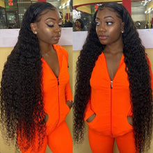 Load image into Gallery viewer, Peruvian Kinky Curly Lace Front Human Hair Wigs 13x1 Lace Frontal Hair Wigs with Baby Hair Pre Plucked Remy Hair Lace Wigs
